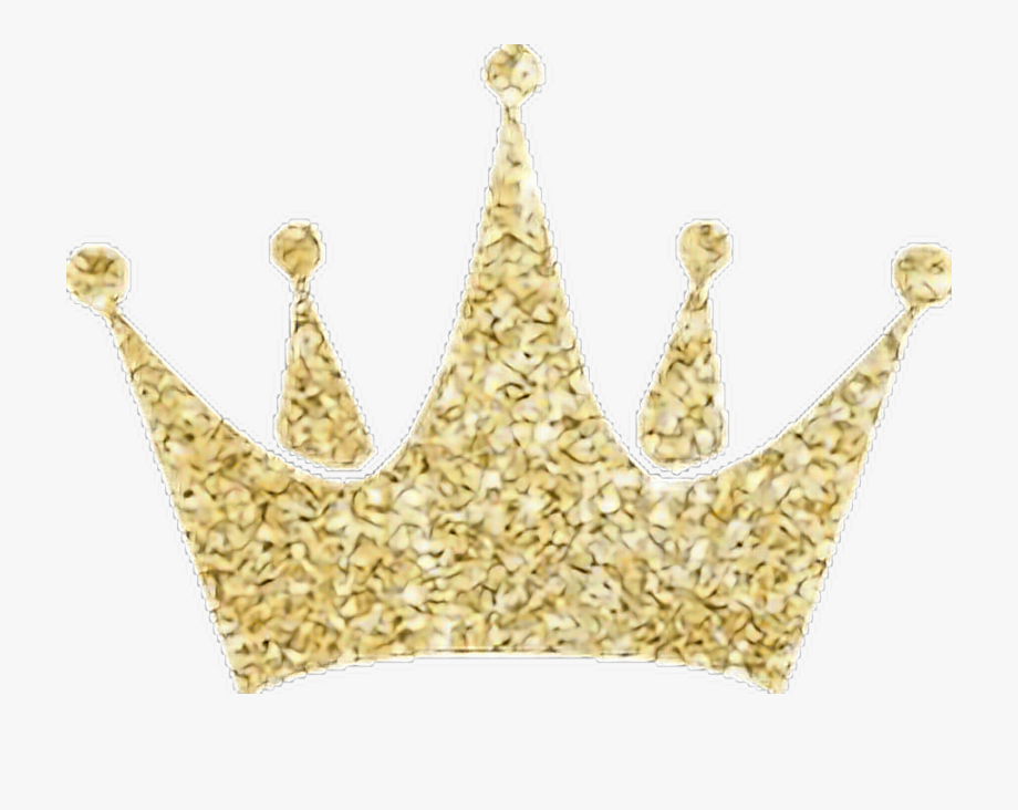 Gold Crown Glitter Freetoedit.