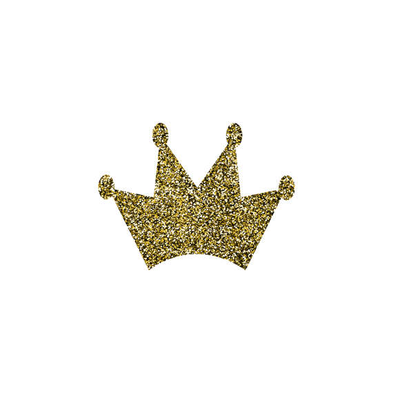 Glitter Crown Clipart.