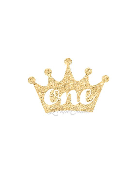 Gold Glitter Princess Crown Clipart.