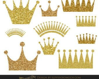 Gold crown, crown clip art, gold crown clipart, sparkly.