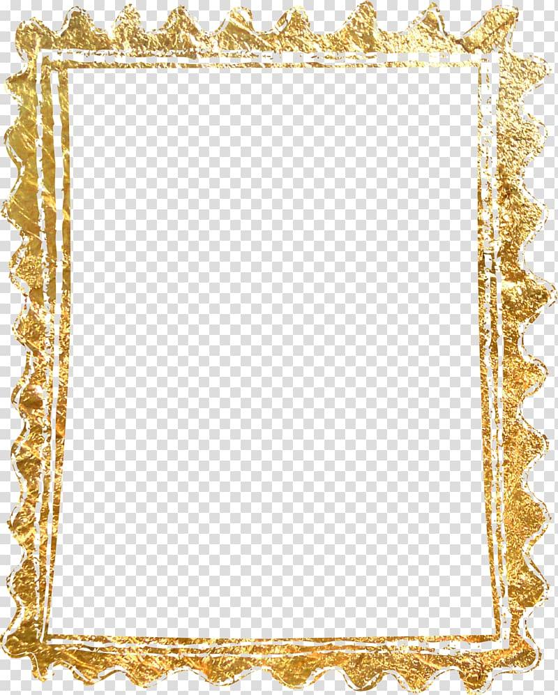 Rectangular gold glitter frame, frame Gold, Material gold.