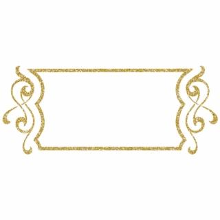 Gold Glitter Frame PNG Images.