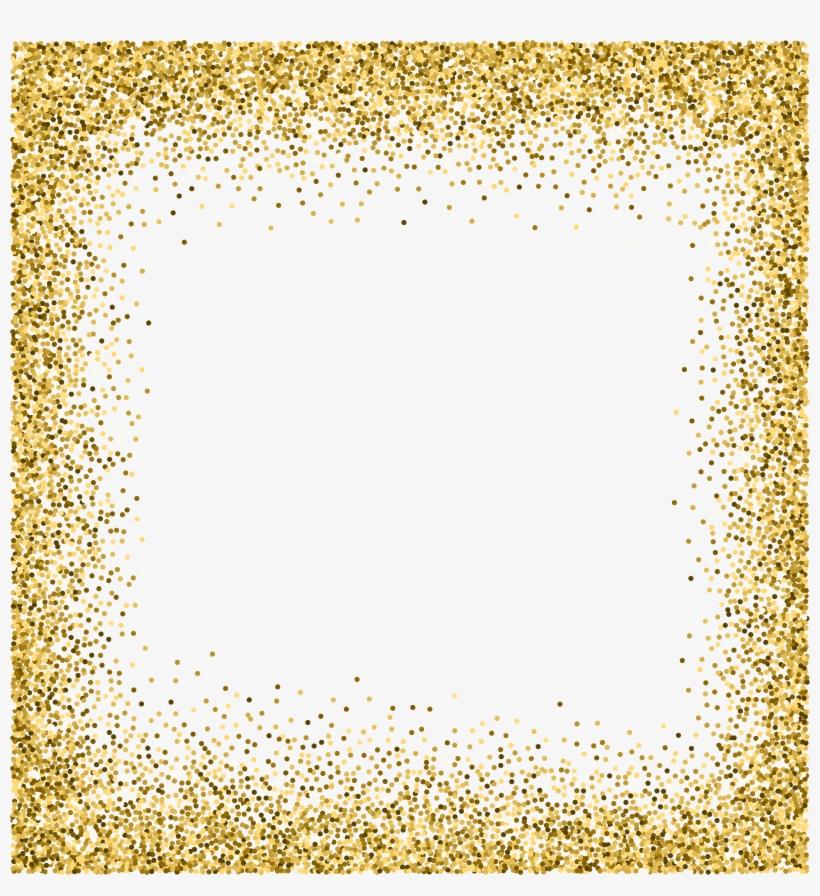 Transparent Border Gold Sparkle.