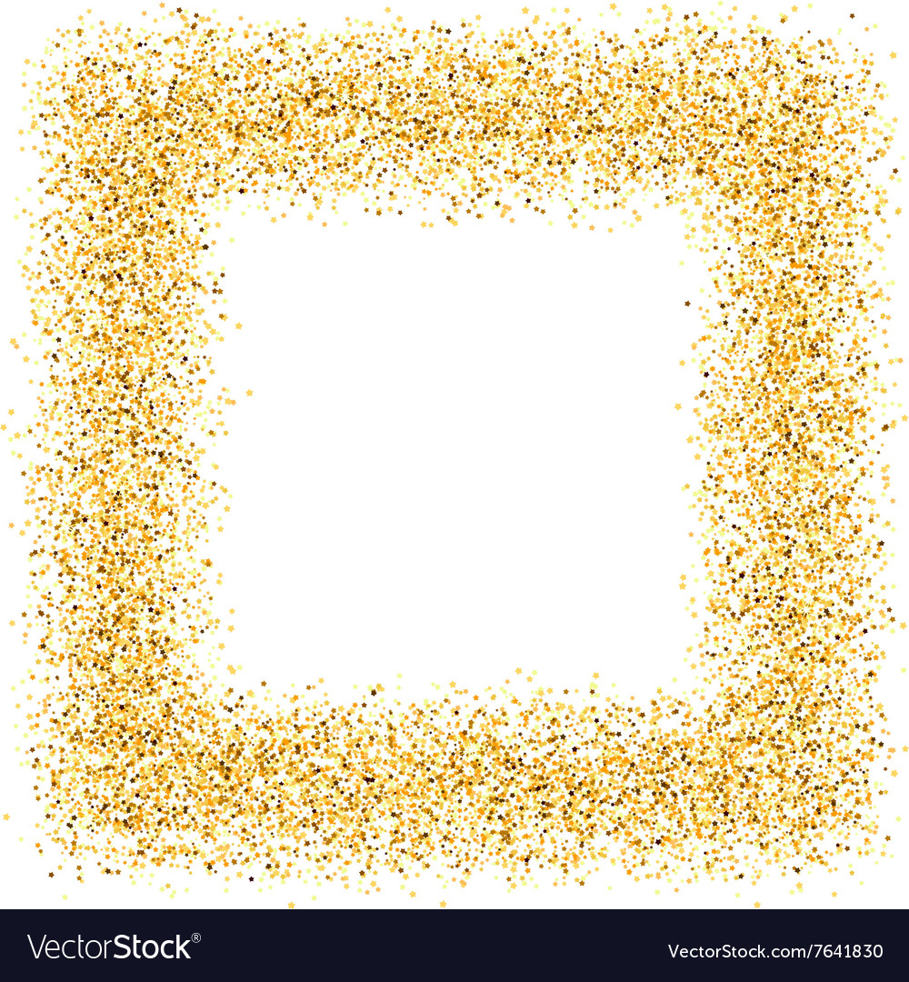 Abstract gold sand dust glitter frame square.