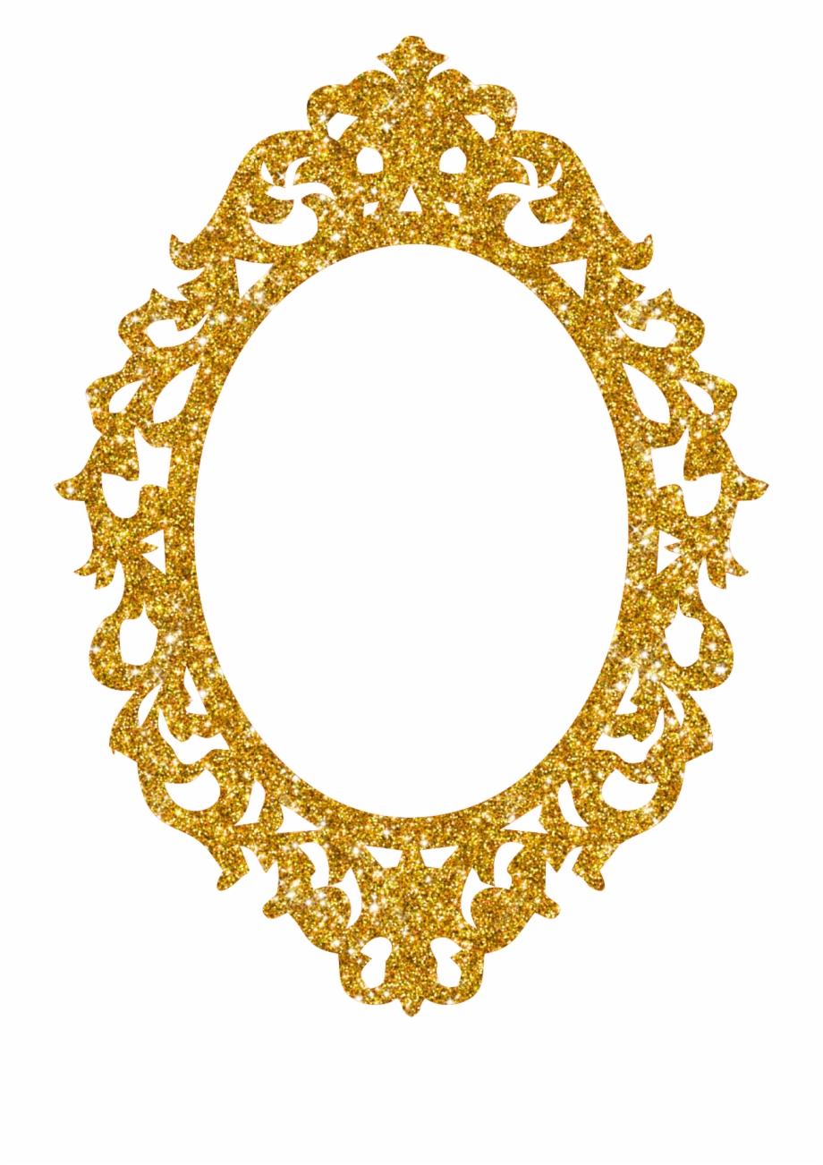 Espelho Glitter Dourado Girl Boss, Ariel, Frames, Gold.