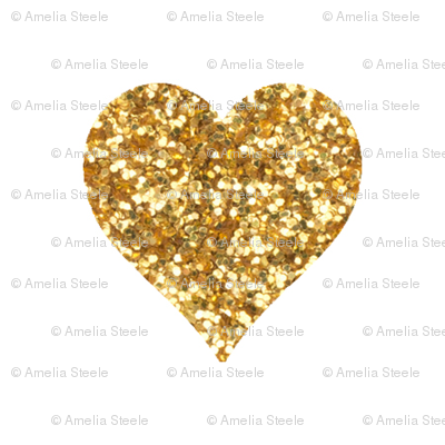 Gold Glitter Heart PNG Transparent Gold Glitter Heart.PNG.