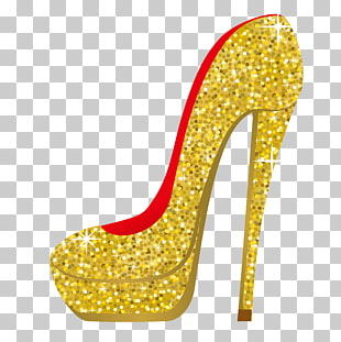 137 gold High Heels PNG cliparts for free download.