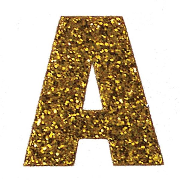 Gold Glitter Letter.