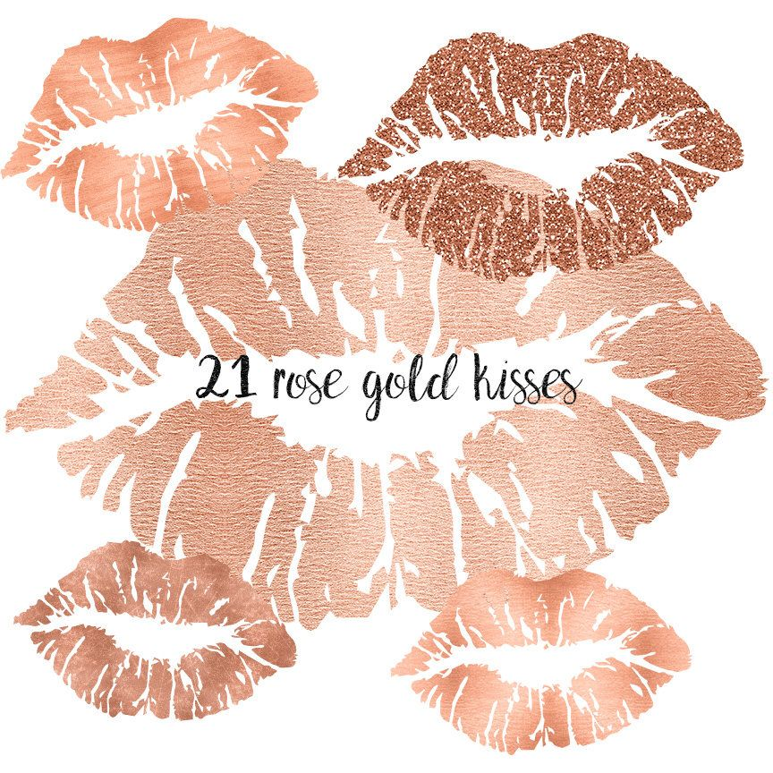 Rose Gold lips clipart, Rose Gold clipart lips,Rose Gold.
