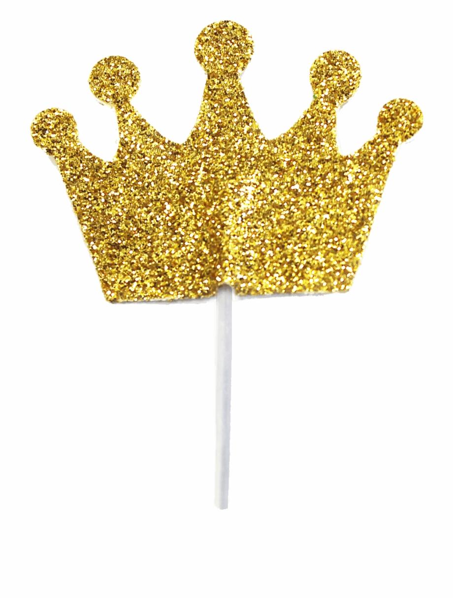 Glitter Crown Cupcake Toper.