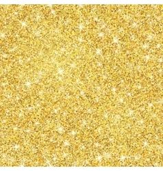 Gold glitter texture with sparkles vector.