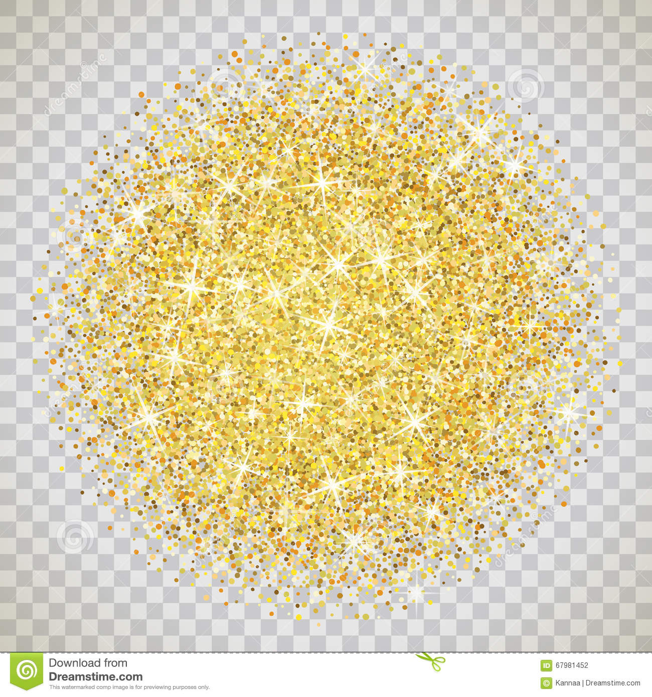 Gold Glitter Texture With Sparkles Stock Vector.