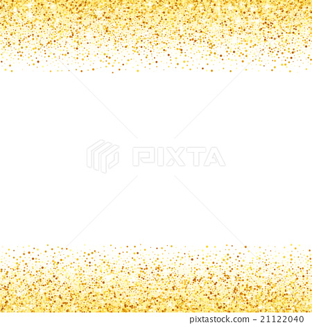 Abstract vector gold glitter star wave background.