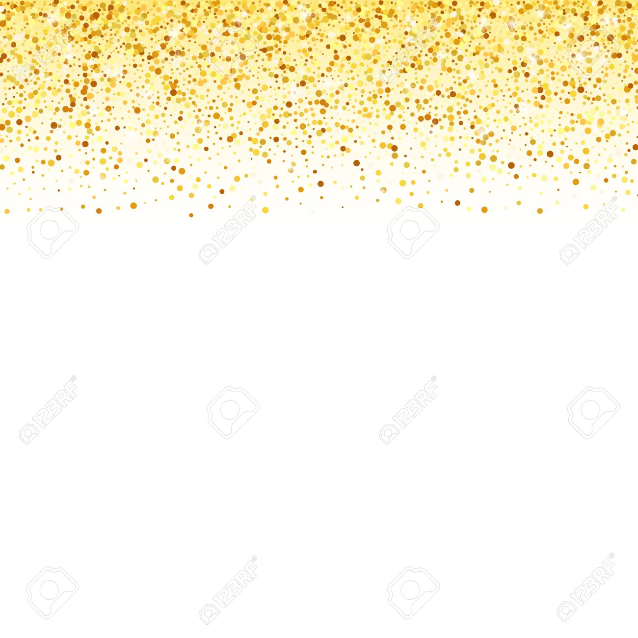 Vector gold glitter wave abstract background, golden sparkles...