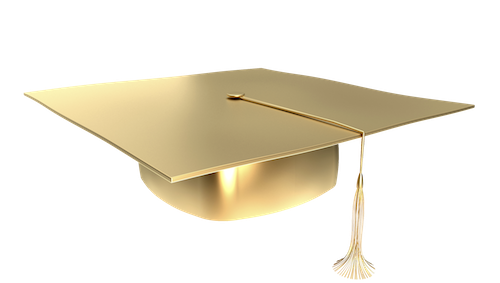 Gold Graduation Cap Png Vector, Clipart, PSD.