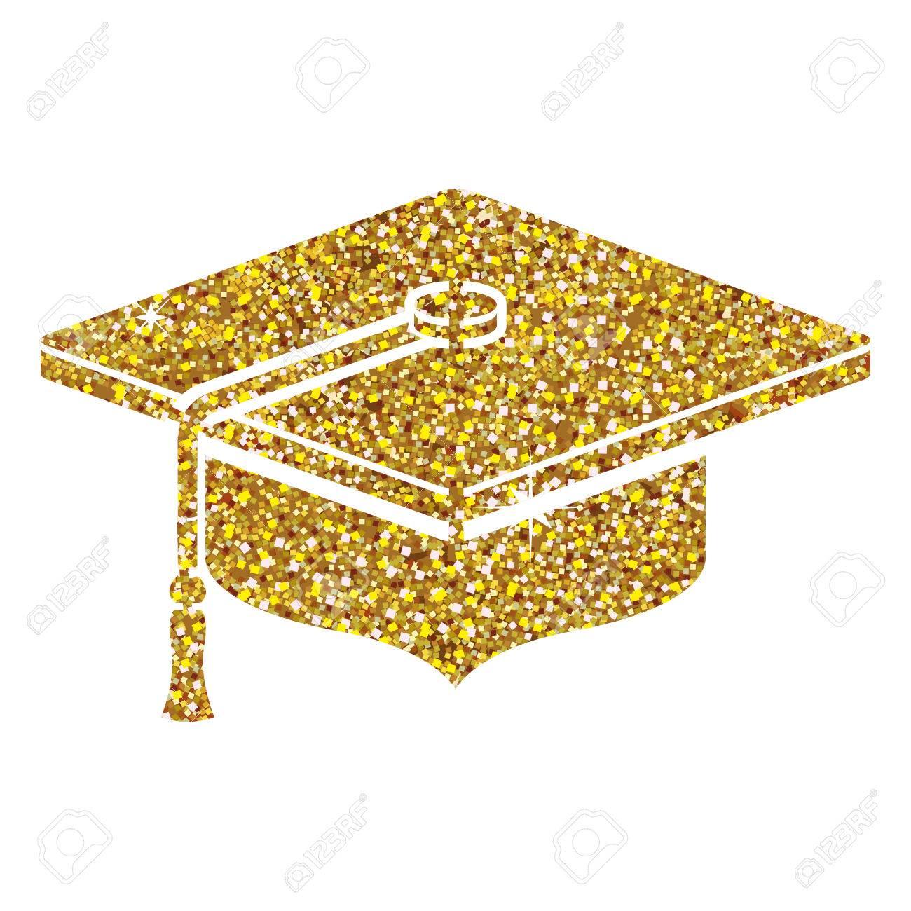 Graduation cap icon. Graduation university education and school...