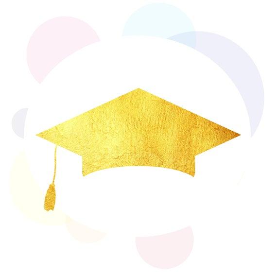 Graduation cap PNG, Graduation 2018, Class Of 2018, PNG, Printable Clipart,  Shirt print, Gold glitter file, Digital clip art.