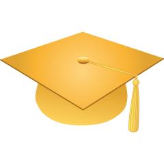 Graduation Gold Cliparts.