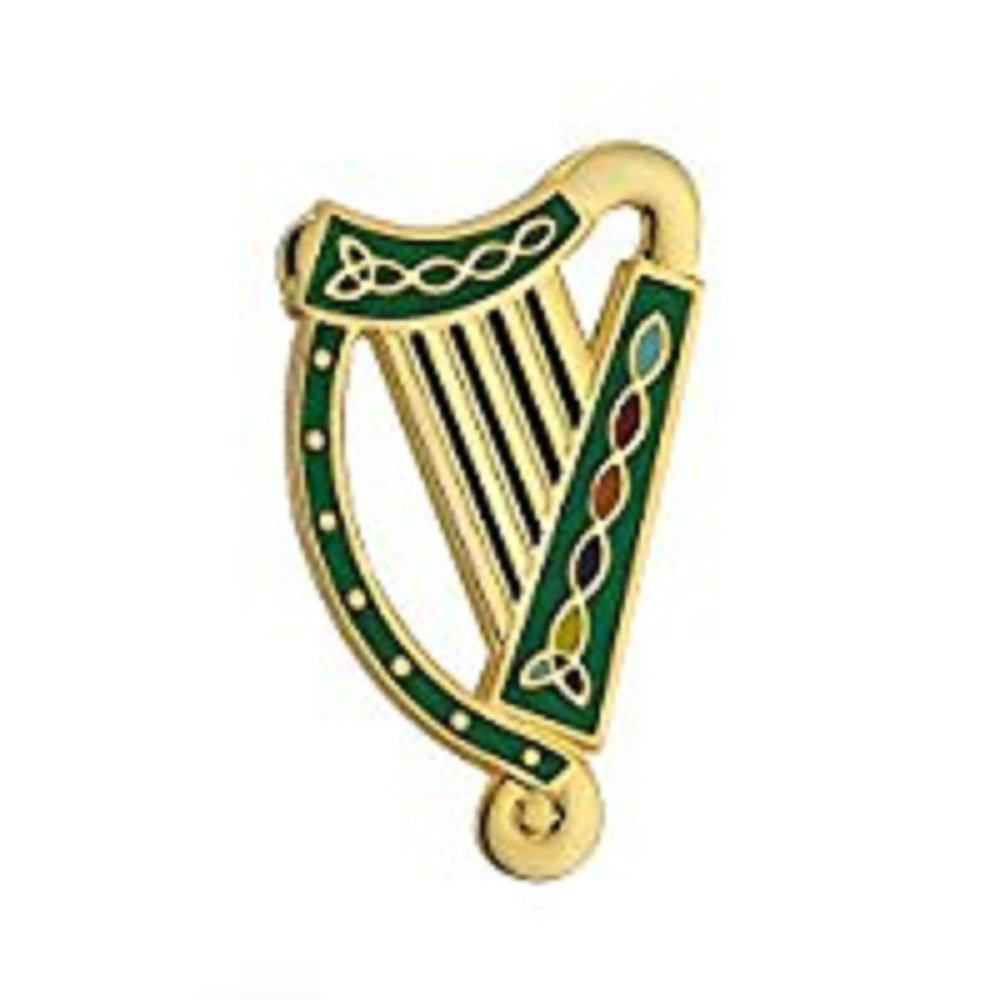 Amazon.com: Biddy Murphy Solvar Irish Harp Brooch Gold.