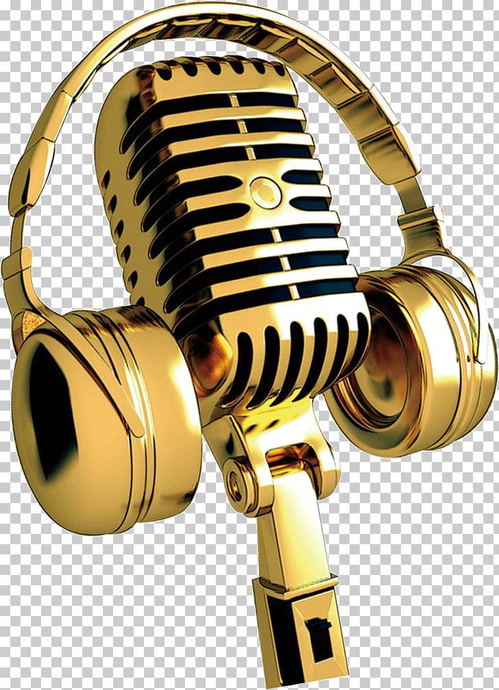 Microphone, Golden Microphone, gold microphone and.