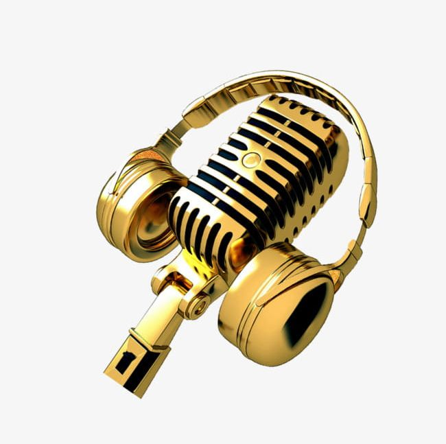 Gold Headset PNG, Clipart, Broadcasting, Equipment, Gold.