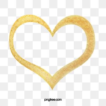 Golden Heart PNG Images.