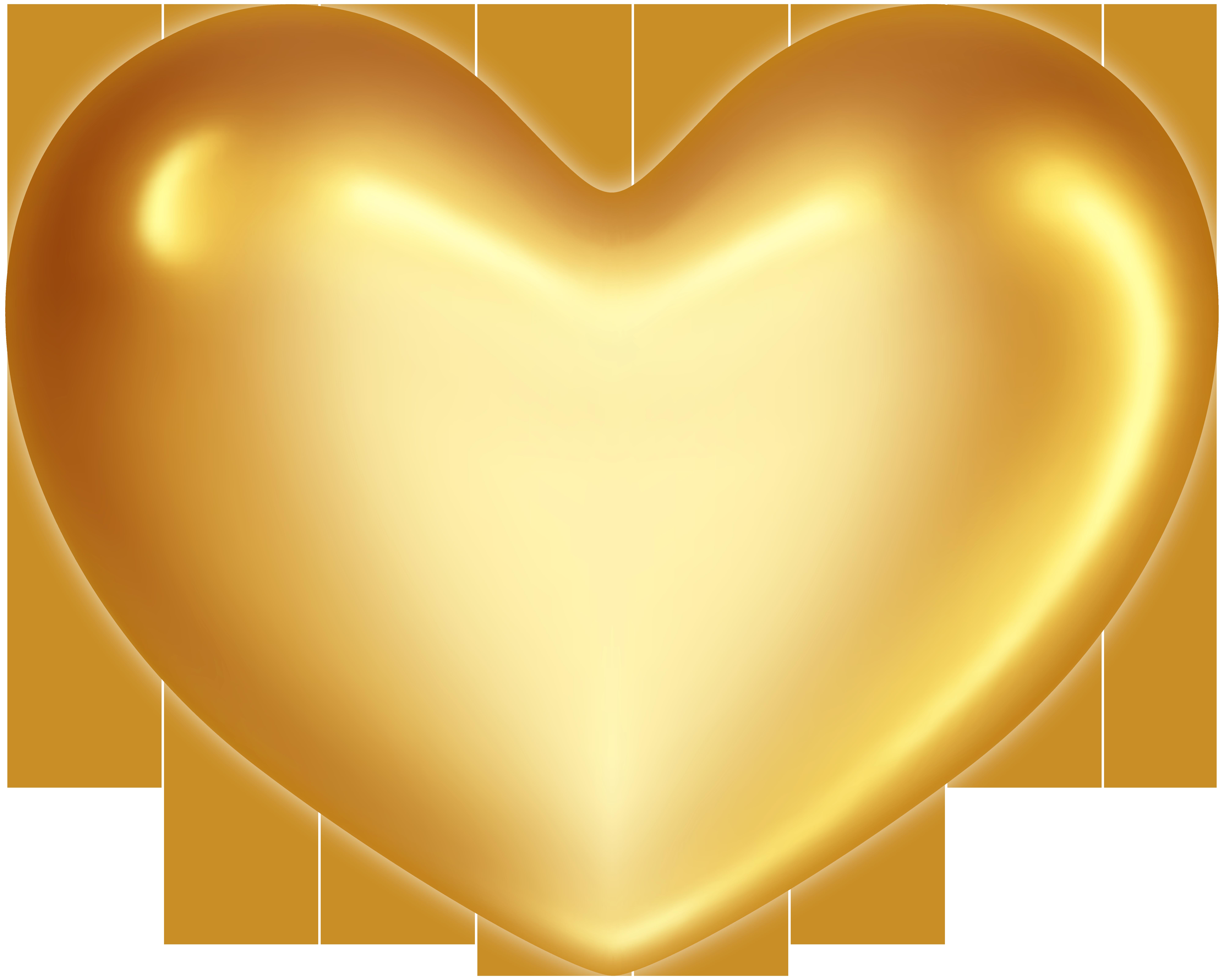 Gold Heart PNG Clip Art.