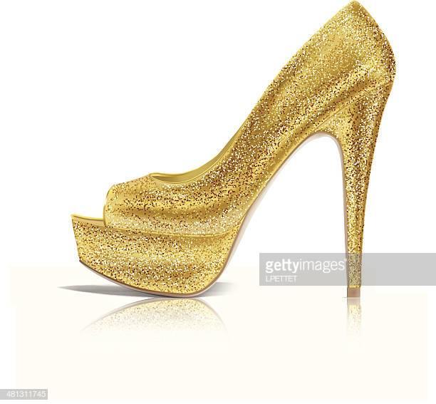 60 Top Gold Shoe Stock Illustrations, Clip art, Cartoons, & Icons.