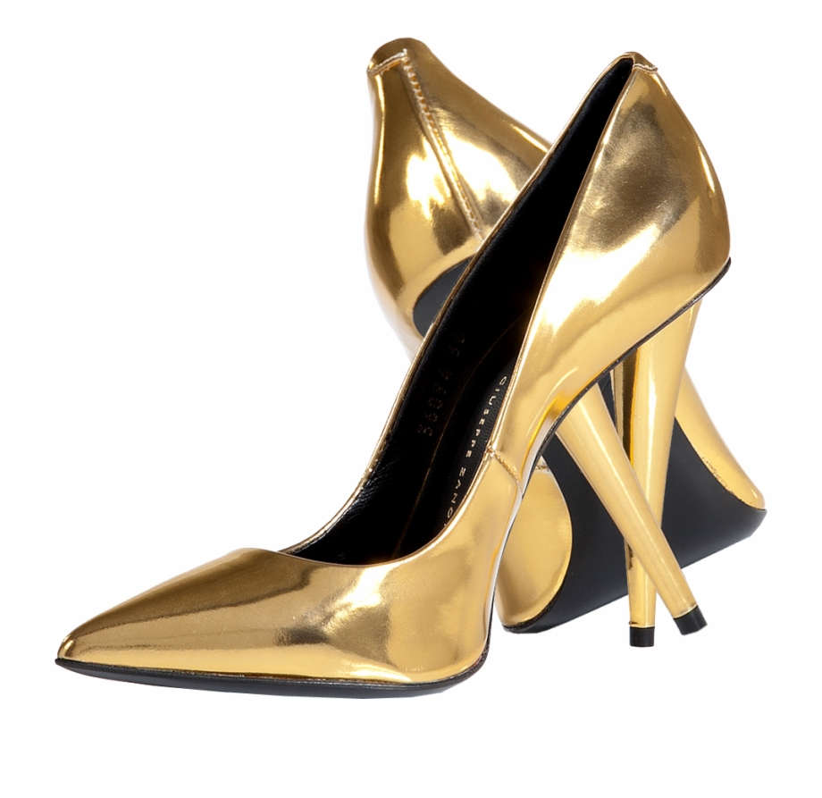 Gold Shoes Png.