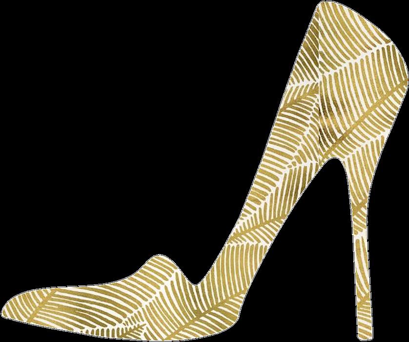 High Heels Images Gold Shoes Transparent Background.