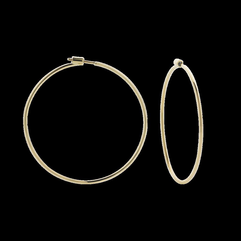60mm Hoop Earrings.