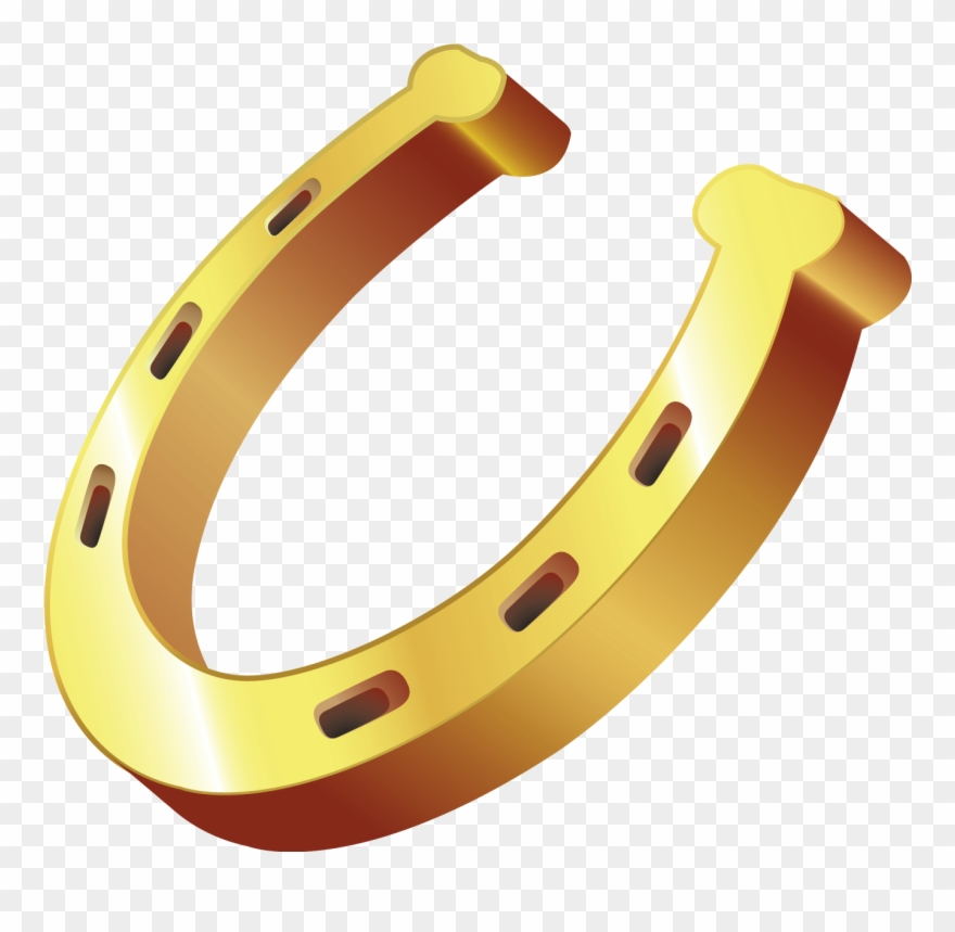 Gold Horseshoe Png Clipart.