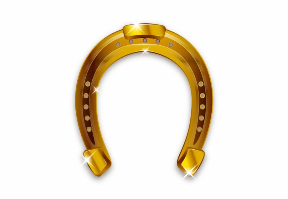 Gold Horseshoe Png.