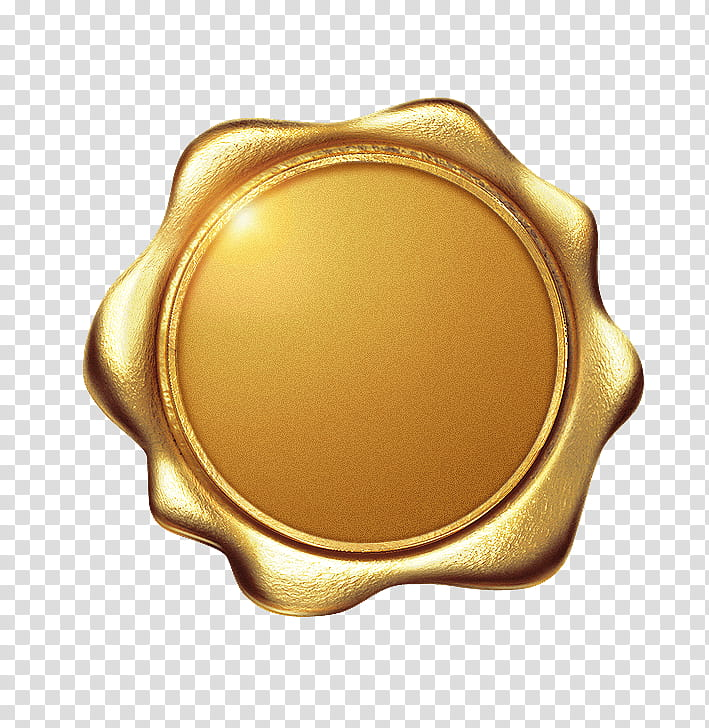 Gold Icon, Logo, Icon Design, Seal, Sealing Wax, Yellow.
