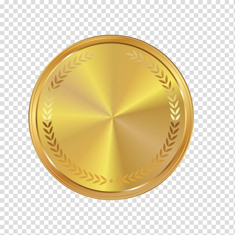 Gold medal logo, Medal Gold Icon, Golden atmosphere Medal.
