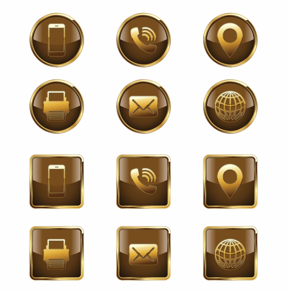 Golden Icons Png Free.