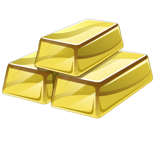 Gold Bar icon png.