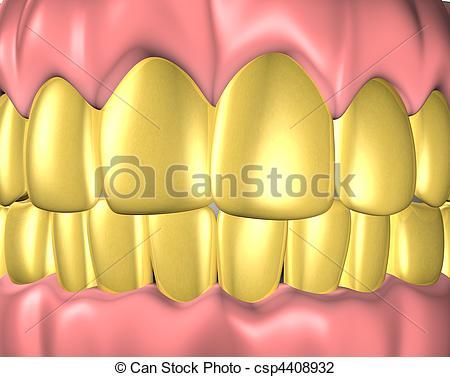 Clip Art of denture.