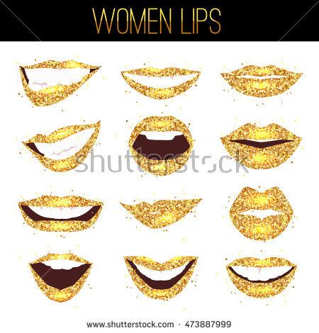 Woman Gold Mouth Open Stock Photos, Royalty.