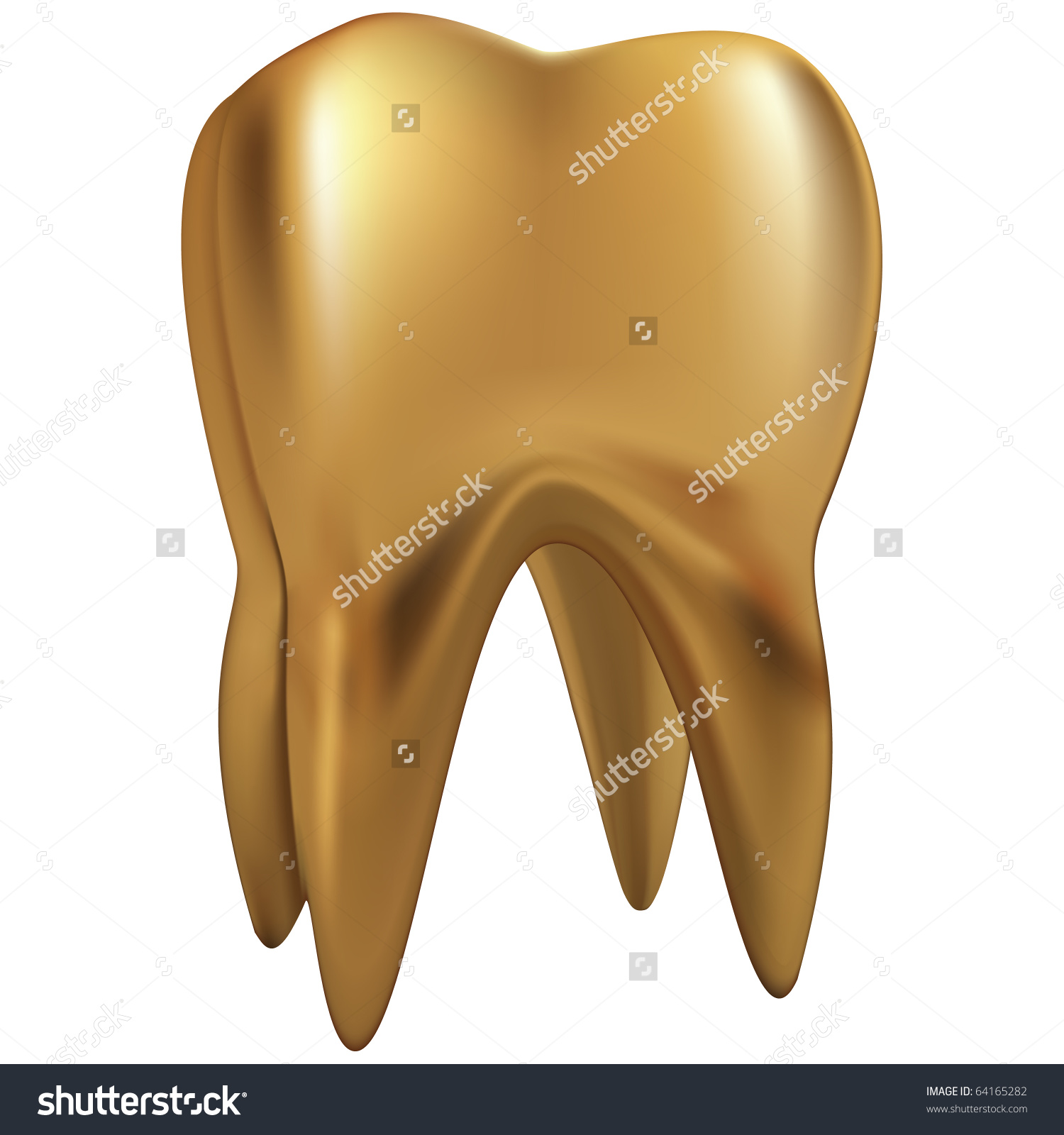 Golden tooth clipart.