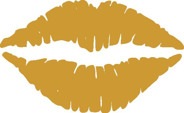 Gold Lips Clipart Clip Art at Clker.com.