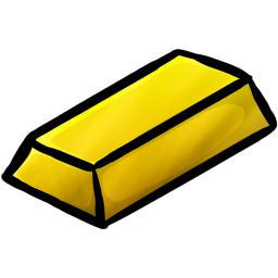 Minecraft Gold Ingot Icon, PNG ClipArt Image.