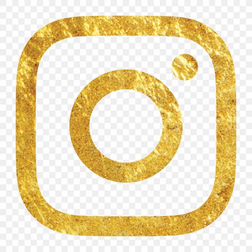 Social Media Gold Logo Brand Instagram, PNG, 1024x1024px.