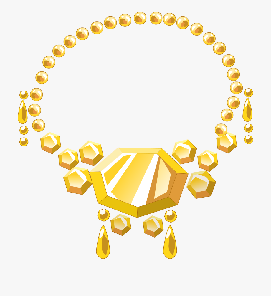 Jewellery Clipart Golden Necklace.