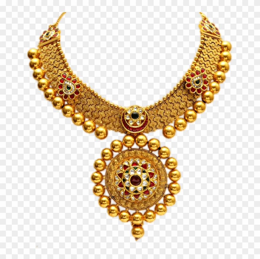 Necklace Clipart Round Gold.