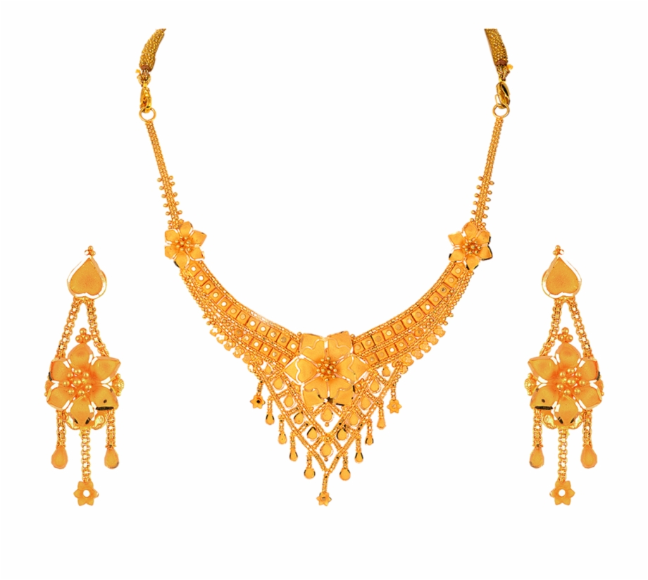 Indian Gold Jewellery Necklace Sets Png.