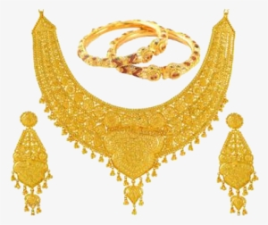 Gold Jewellery Set PNG Images.