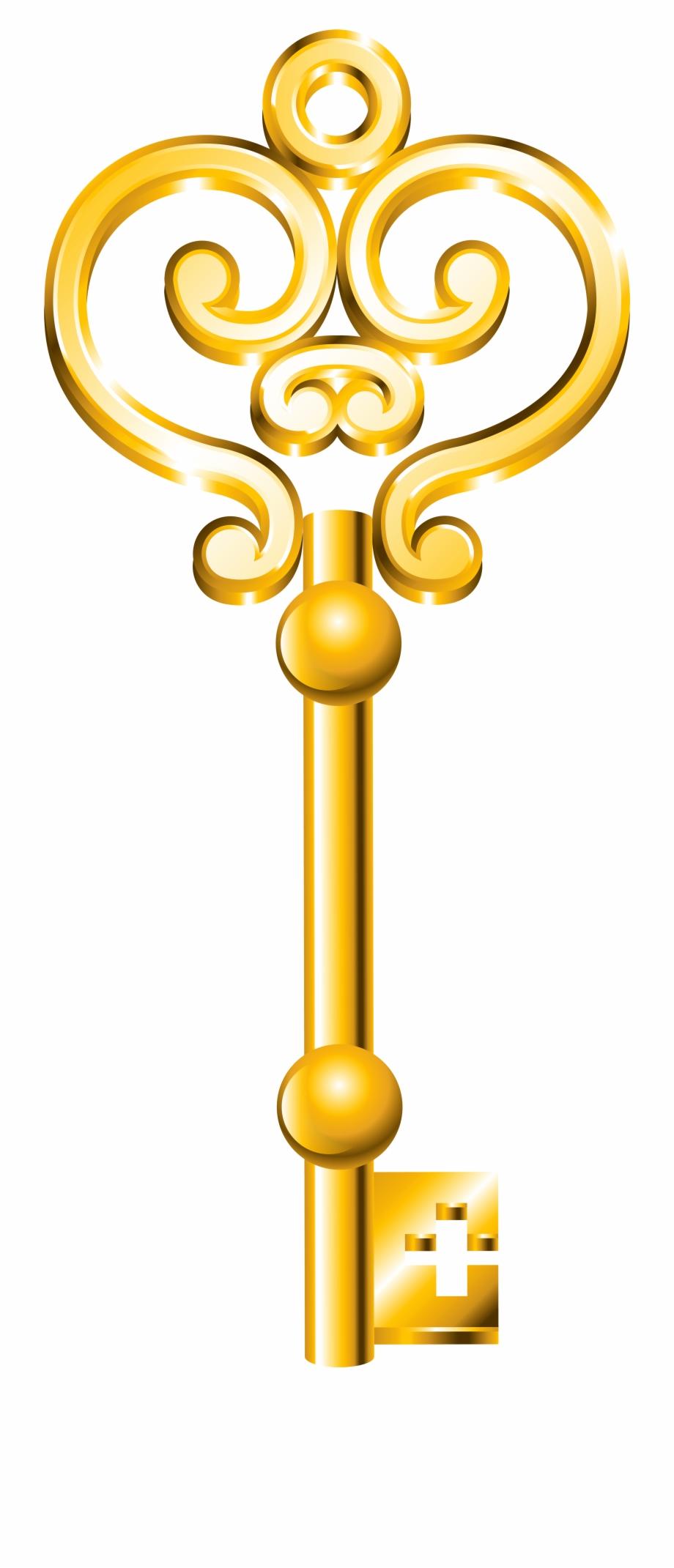 Golden Key Png Clip Art.
