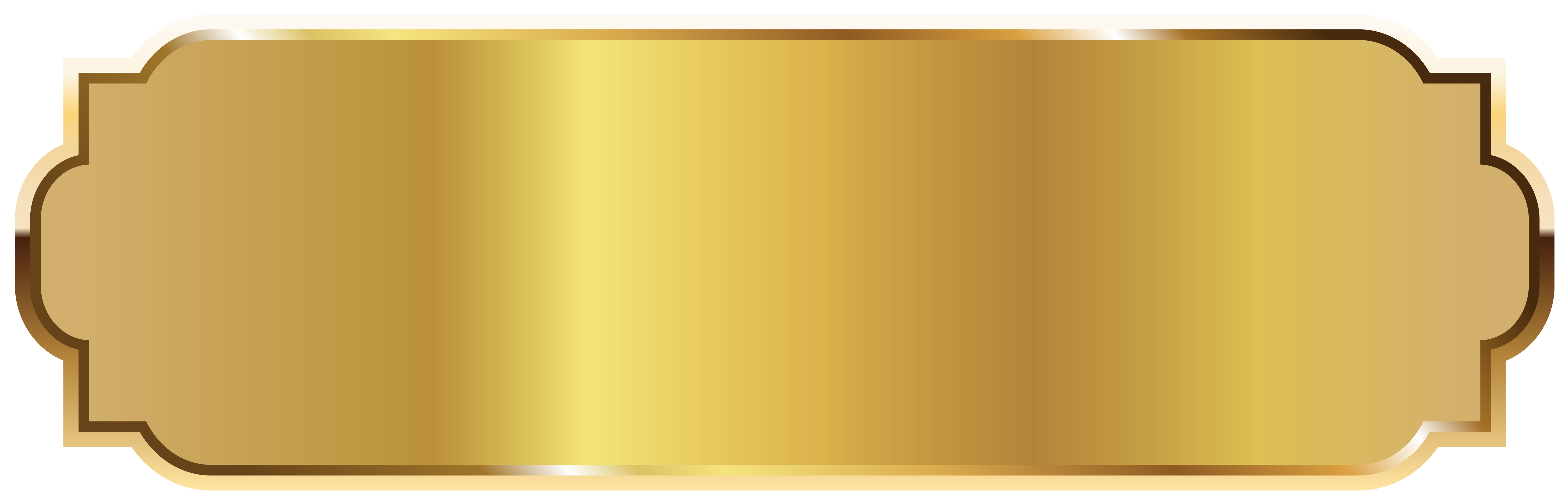 Gold Label Template PNG Picture.