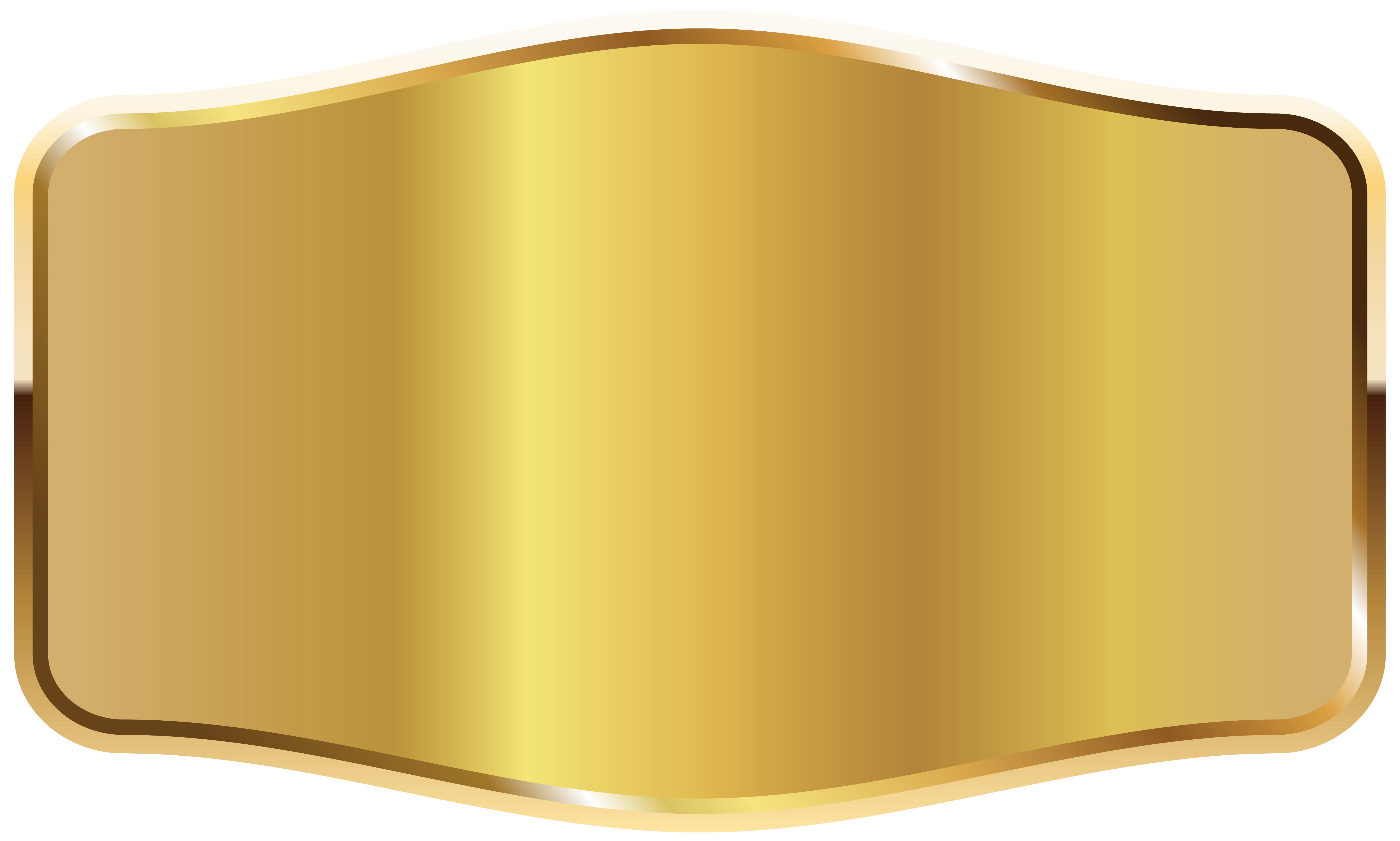 Gold Label PNG Clipart Picture.